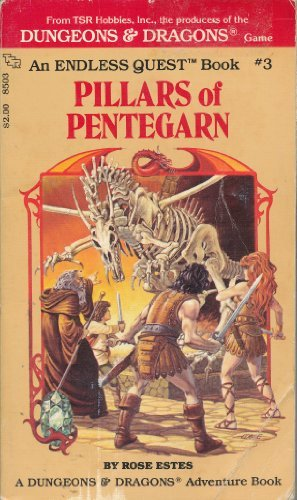 PILLARS OF PENTAGARN Dungeons & Dragons Endless Quest Book, Pick A Path to Adventure: Estes, ...