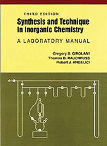 9780935702484: Synthesis and Technique in Inorganic Chemistry: A Laboratory Manual