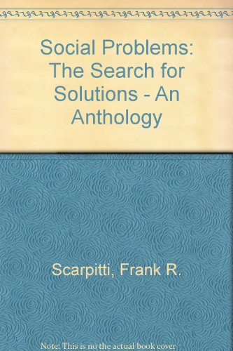 9780935732597: Social Problems: The Search for Solutions : An Anthology