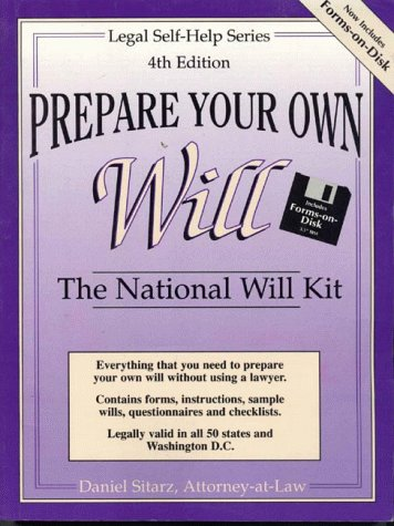9780935755244: Prepare Your Own Will (book and disk): The National Will Kit with Forms-on-Disk (Legal self-help series)