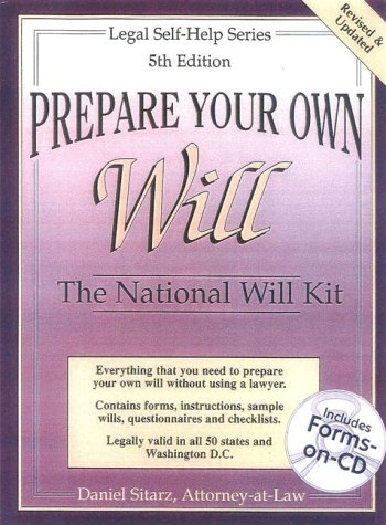 9780935755732: Prepare Your Own Will: The National Will Kit