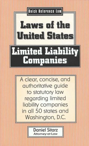 9780935755800: Limited Liability Companies: Laws of the United States (Quick Reference Law)