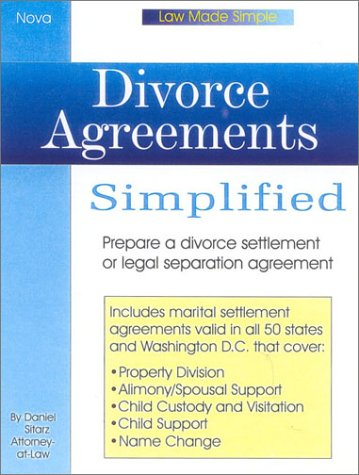 9780935755862: Divorce Agreements Simplied, book w/cd (Law Made Simple)