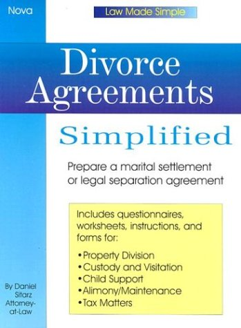 9780935755879: Divorce Agreements Simplfied (Law Made Simple)
