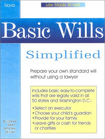 9780935755893: Basic Wills Simplified, book w/cd (Law Made Simple)