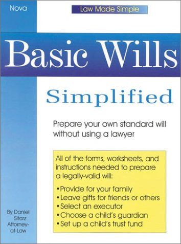 9780935755909: Basic Wills Simplified (Law Made Simple)