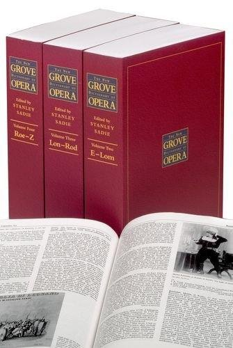 9780935859928: The New Grove Dictionary of Opera: 4 Volumes