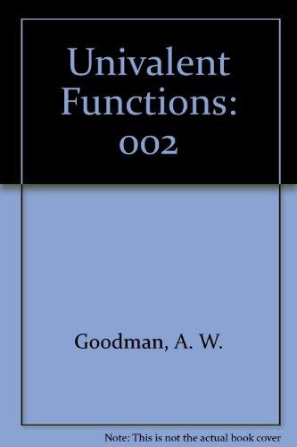 9780936166117: Univalent Functions