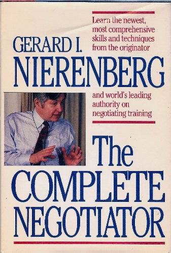 9780936305004: The Complete Negotiator