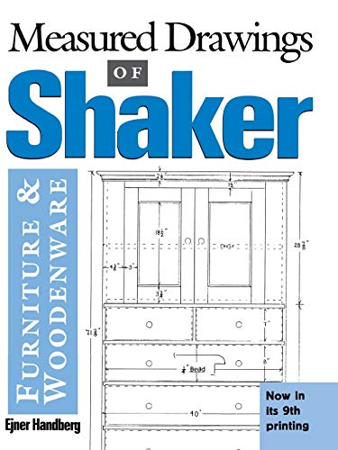 9780936399201: Measured Drawings of Shaker Furniture and Woodenware