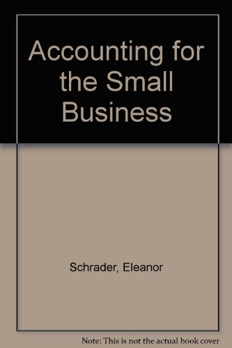 9780936496122: Accounting for the Small Business