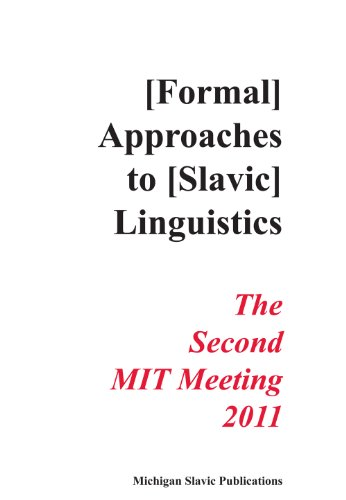 9780936534091: Formal Approaches to Slavic Linguistics 20: The Second MIT Meeting