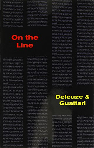 On The Line (Foreign Agents Series): Gilles Deleuze, FÃ