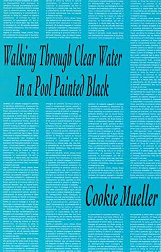 9780936756615: Walking Through Clear Water in a Pool Painted Black (Native Agents)