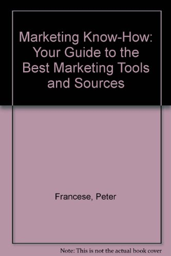 9780936889429: Marketing Know-How: Your Guide to the Best Marketing Tools and Sources