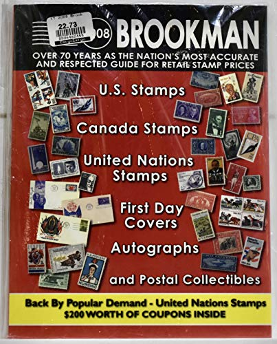 9780936937632: 2008 Brookman: United States Stamps, Canada Stamps, United Nations Stamps, First Day Covers, Autographs & Postal Collectibles: United States & Canada Stamps ... Collectibles (Brookman Stamp Price Guide)