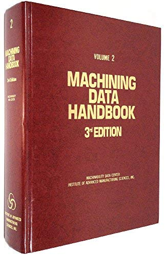 Machining Data Handbook: Machinability Data Center