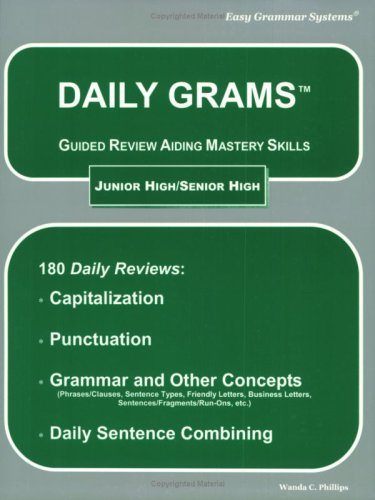 9780936981055: Daily Grams: Guided Review Aiding Mastery Skills JR/SR High