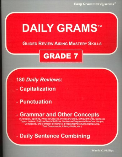 9780936981307: Daily Grams: Guided Review Aiding Mastery Skills : Grade 7