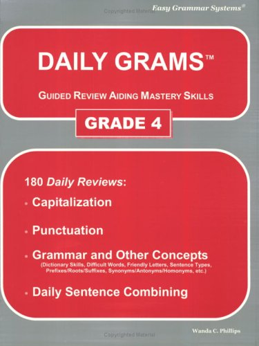 9780936981338: Daily Grams Guided Review Aiding Mastery Skills Grd 4: Grade 4