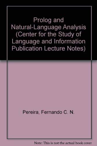 Prolog and Natural-Language Analysis: Fernando C. N.