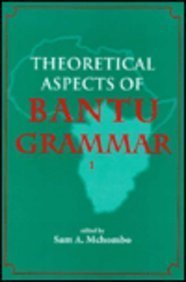 9780937073728: Theoretical Aspects of Bantu Grammar 1 (Center for the Study of Language and Information Publication Lecture Notes) (v. 1)
