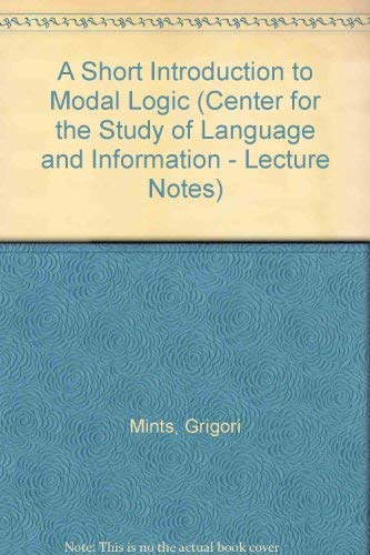 9780937073766: A Short Introduction to Modal Logic (Lecture Notes)