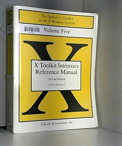 9780937175576: X Toolkit Intrinsics Reference Manual (Definitive Guides to the X Window System)
