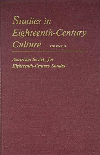 Studies in Eighteenth-Century Culture: Volume 19: Brown, Leslie Ellen; Craddock, Patricia; Editors