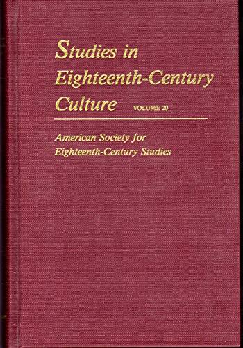 Studies in Eighteenth-Century Culture: Volume 20: Brown, Leslie Ellen; Craddock, Patricia; Editors