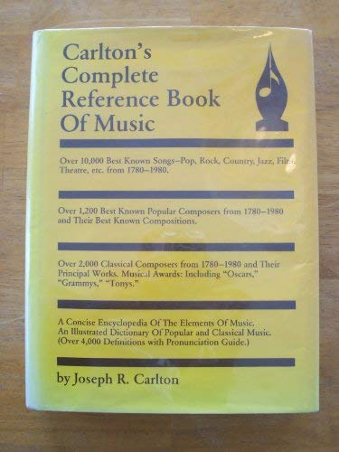 9780937348000: Carlton's Complete Reference Book of Music