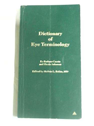 9780937404072: Dictionary of eye terminology