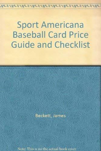 Sport (The) Americana Baseball Card Price Guide,: Beckett, Dr. James