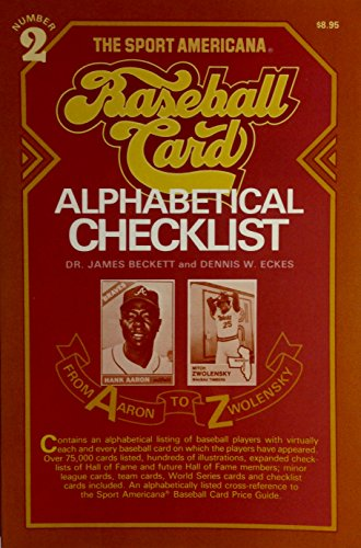 9780937424179: Alphabetical Baseball Card Checklist No. 2 (Sport Americana Alphabetical Baseball Card Checklist)