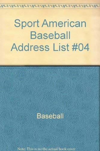 The Sport Americana Baseball Address List