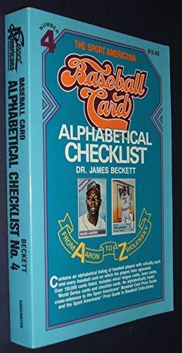 Sport Americana Series: Baseball Card Alphabetical Checklist No. 4: James Beckett