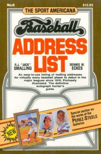 9780937424483: The Sport Americana Series Baseball Address List No.6