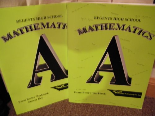 Regents High School Mathematics A Exam Review: Nigro, Anthony, D'Onofrio,