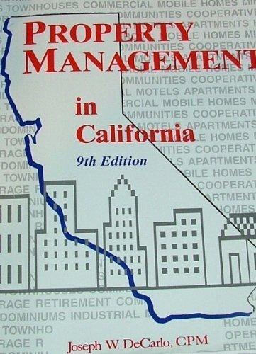 Property Management in California: Decarlo, Joseph W.