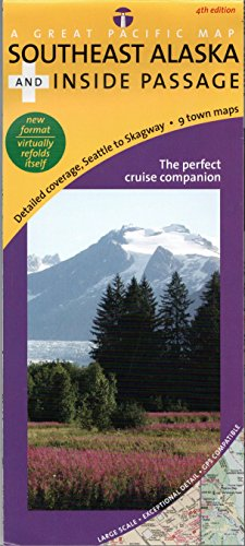 9780938011002: Southeast Alaska's Inside Passage Recreation Map & Cruise Guide, 4th Edition