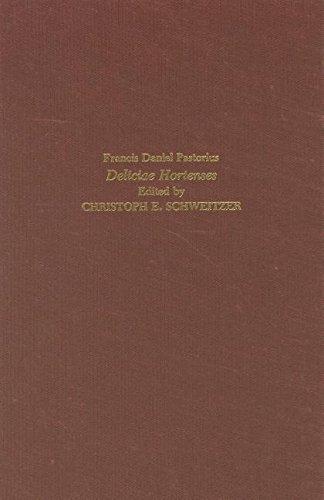9780938100065: Deliciae Hortenses or Garden Recreations (Studies in German Literature Linguistics and Culture)