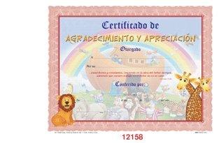 9780938127840: Certificado De Agradecimiento Y Apreciacion Niños