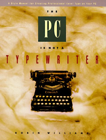 The Pc is Not a Typewriter 9780938151494 Ever wonder why some type looks more professional, more sophisticated than other type? The answer lies in the techniques and rules developed for professional typesetting. Not surprisingly, those methods are far different than the training given in Typing 1A. This book not only lays down the principles governing traditional type, but explains the logic behind them. The original bestselling version, entitled The Mac is not a typewriter, received scores of rave reviews and won the prestigious Benjamin Franklin Award from the Publishers Marketing Association. Tailored specifically for users of IBM-compatible computers, this new edition will introduce thousands more to the secrets of beautiful, sophisticated pages.