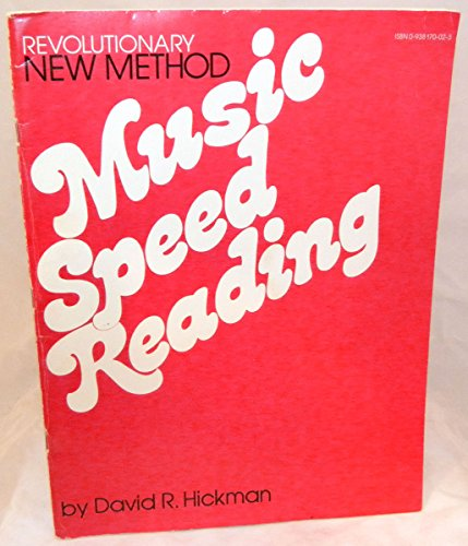 9780938170020: Music Speed Reading
