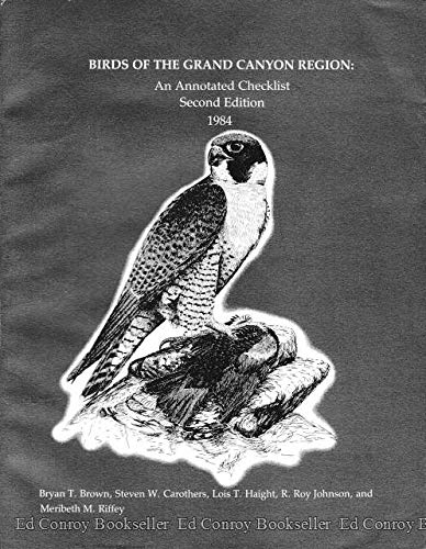 9780938216223: Birds of the Grand Canyon Region: An Annotated Checklist