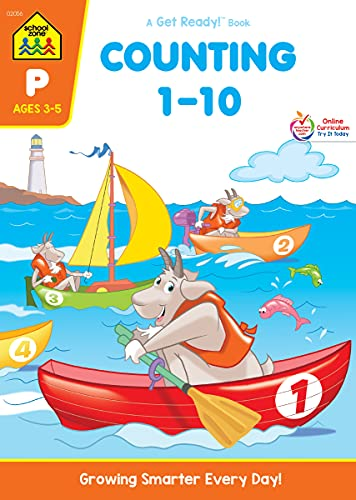 9780938256564: Counting 1-10 Workbook Grade P (Get Ready Books)