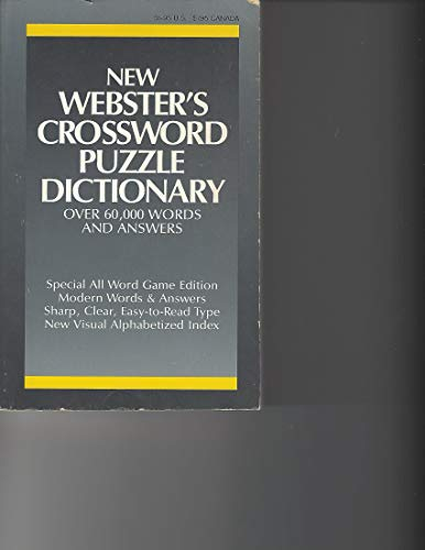 9780938261070: Webster's Crossword Puzzle Dictionary (More Than 31,000 Words More Than 73,000 Answers)