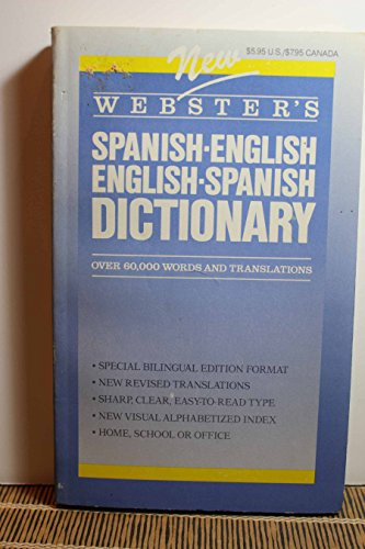 9780938261094: New Webster's Spanish-English, English-Spanish Dictionary