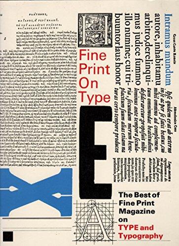 9780938491170: Fine Print on Type