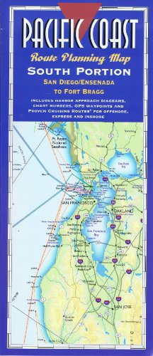 9780938665960: Pacific Coast Route Planning Map, South Portion: San Diego/Ensenada to Fort Bragg- Laminated